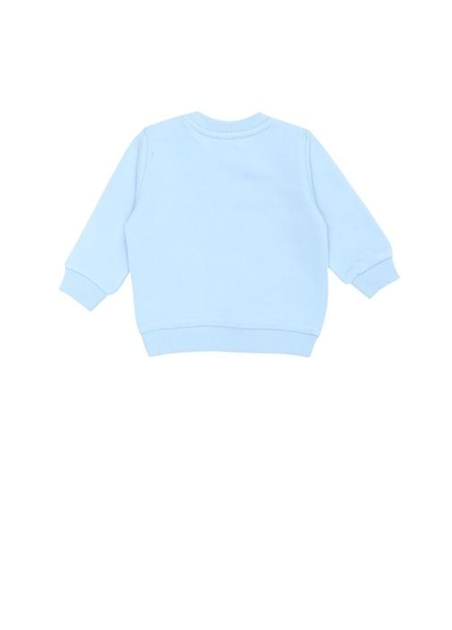 Mavi Bisiklet Yaka Erkek Bebek Sweatshirt
