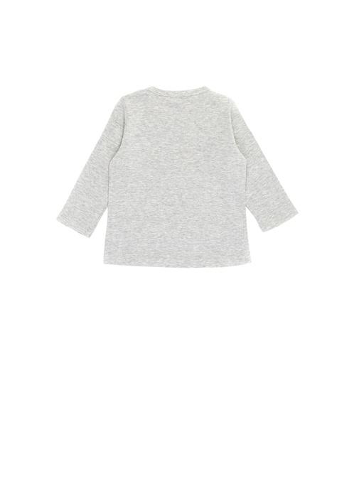 Fantastic Gri Baskılı Kız Bebek Basic T-shirt