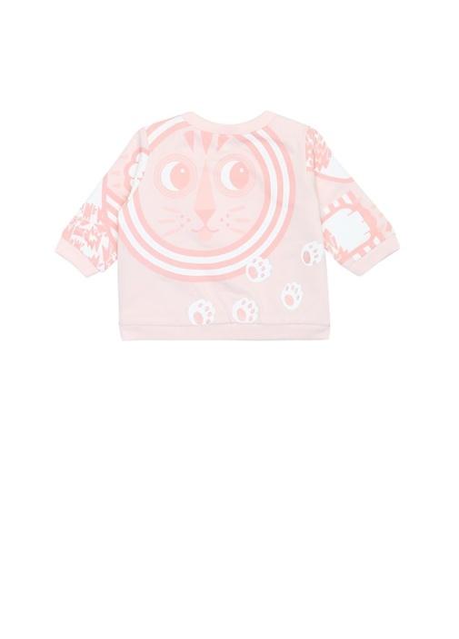 Pembe Organik Pamuk Kız Bebek Sweatshirt