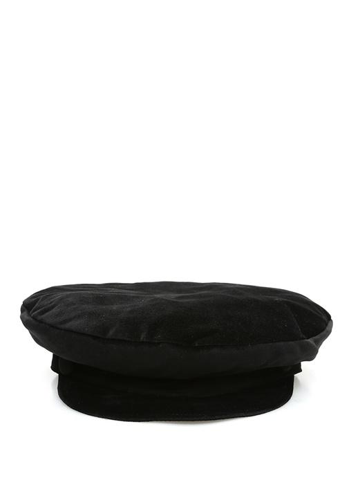 Siyah Kadın Kadife Şapka