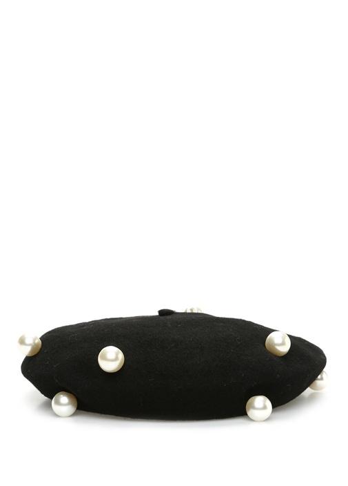 Metalik Gri Siyah Örgü Dokulu Şapka