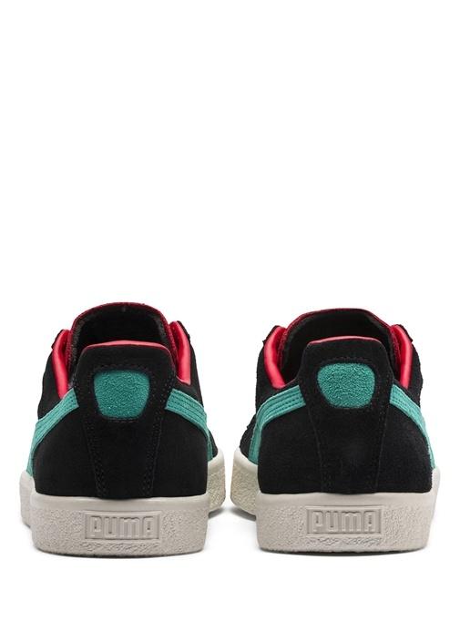 Clyde Siyah Beyaz Kadın Süet Sneaker