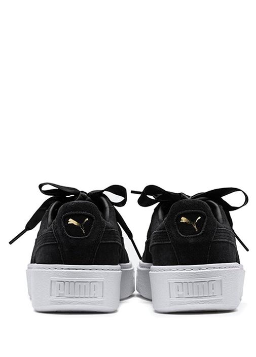 Suede Platform Bling Siyah Kadın Sneaker