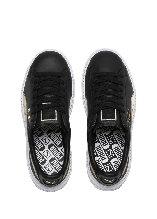 Platform Trace Varsity Siyah Kadın DeriSneaker