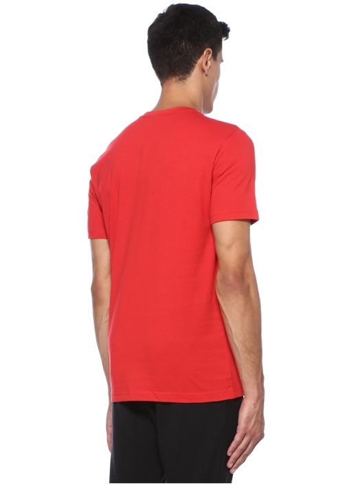 Kırmızı Logo Baskılı Basic T-shirt