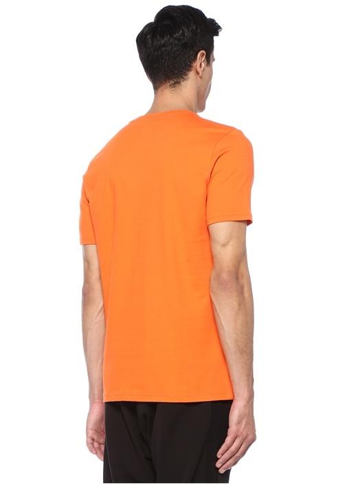 Scarlet Turuncu Logo Baskılı Basic T-shirt