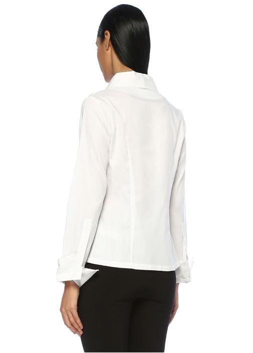 Your Type Beyaz Şal Yaka Anvelop Gömlek