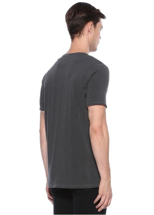 Odamint Antrasit Bisiklet Yaka Basic T-shirt