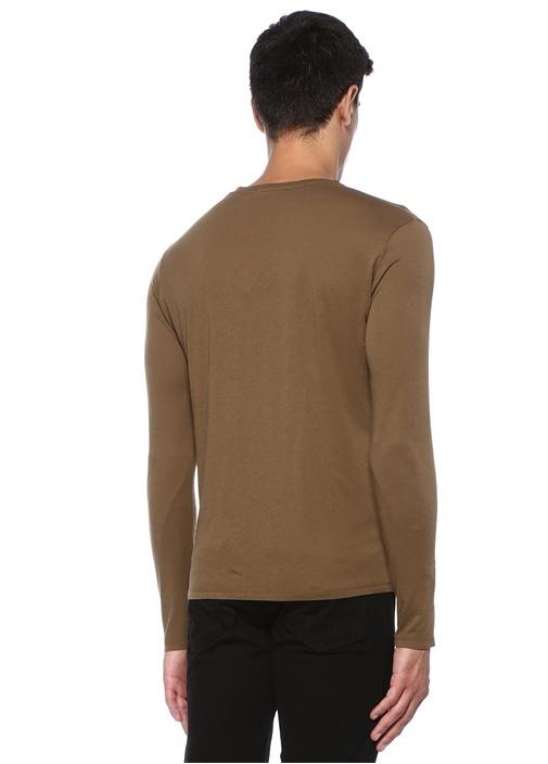 Decatur Haki Uzun Kollu Basic T-shirt