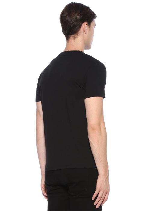 Lacivert Bisiklet Yaka Basic T-shirt