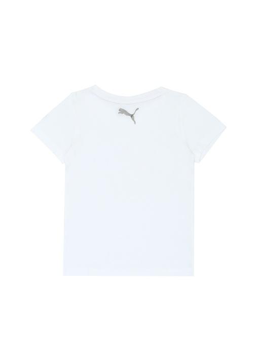 Graphic Beyaz Logo Baskılı Kız Çocuk T-shirt