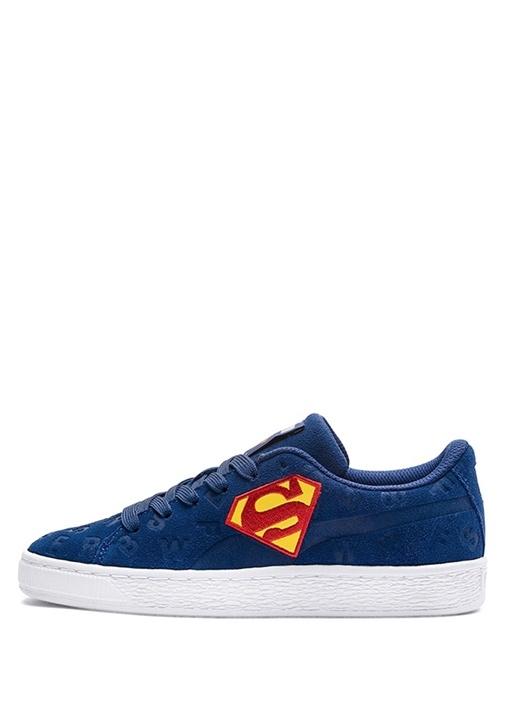 Justice League Lacivert Erkek Çocuk Süet Sneaker