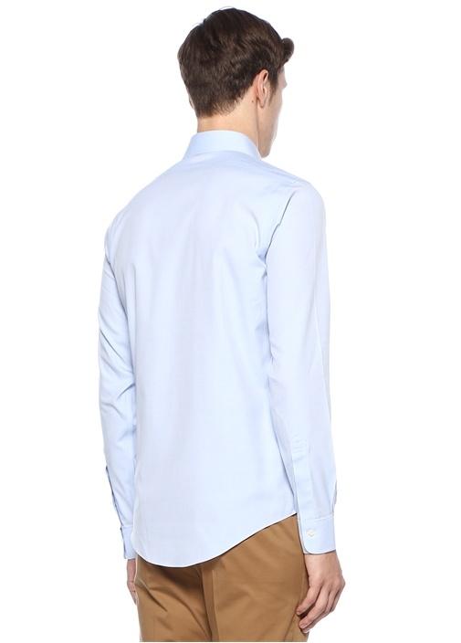 Mavi Non Iron İngiliz Yaka Gömlek