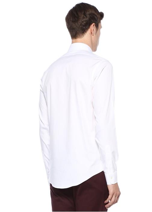 Beyaz Non Iron İngiliz Yaka Gömlek