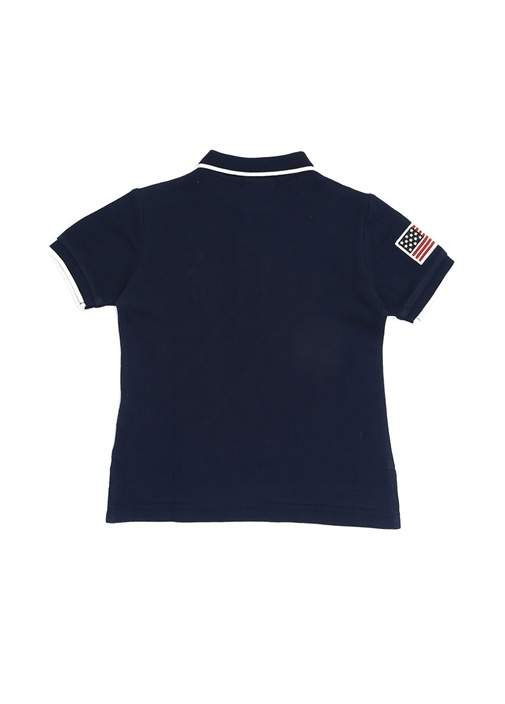 Lacivert Polo Yaka Çizgili Erkek Çocuk T-shirt