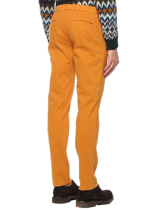 Hardal Normal Bel Boru Paça Pantolon