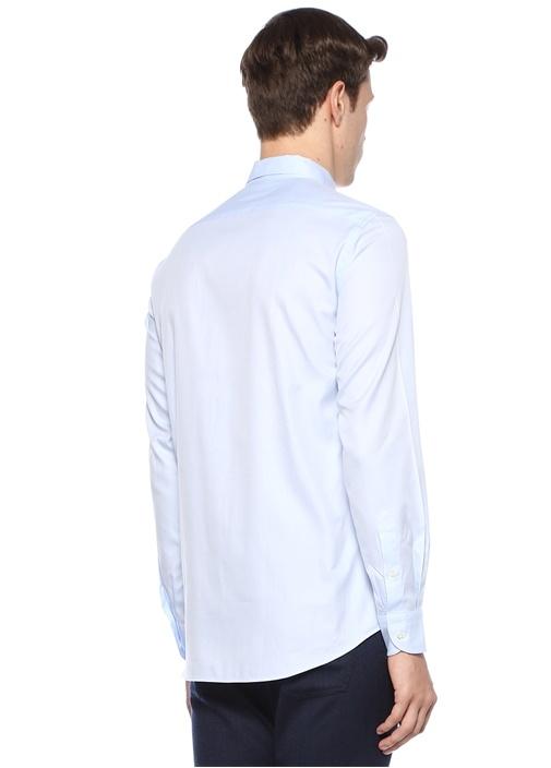 Mavi Düğmeli Yaka Gömlek