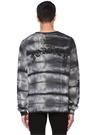 Dagger Gri Batik Desenli Oversize Sweatshirt