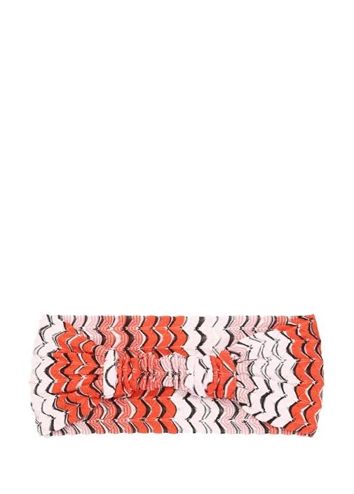 Colourblocked Zikzak Desenli Kadın Saç Aksesuarı