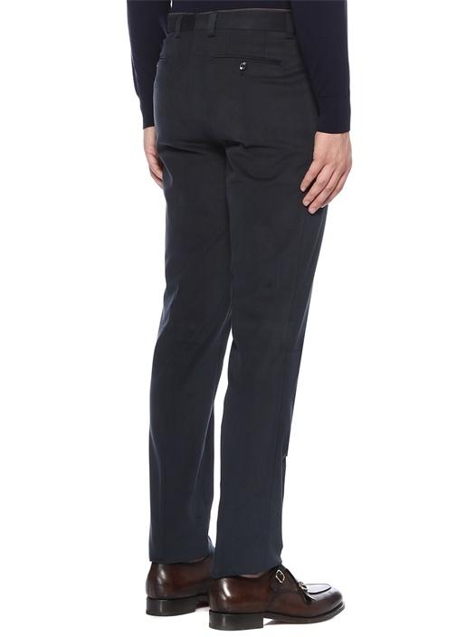 Lacivert Normal Bel Dar Paça Dokulu Pantolon
