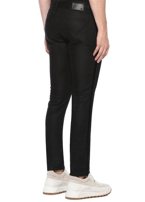 Skinny Fit Siyah Şerit Detaylı Jean Pantolon