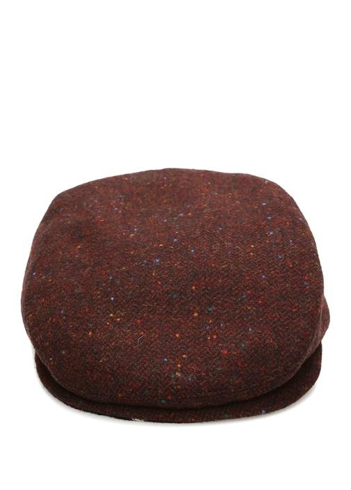 Bordo Nopeli Erkek Yün Kasket Şapka