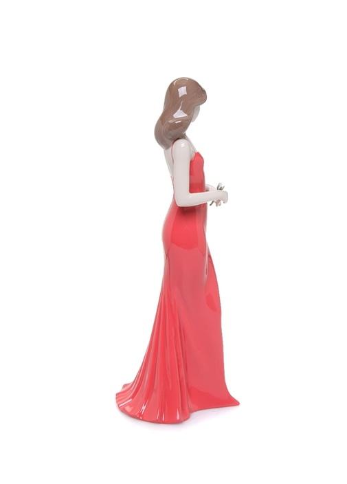 Gülün Zarafeti Kırmızı Kadın Formlu Porselen Biblo