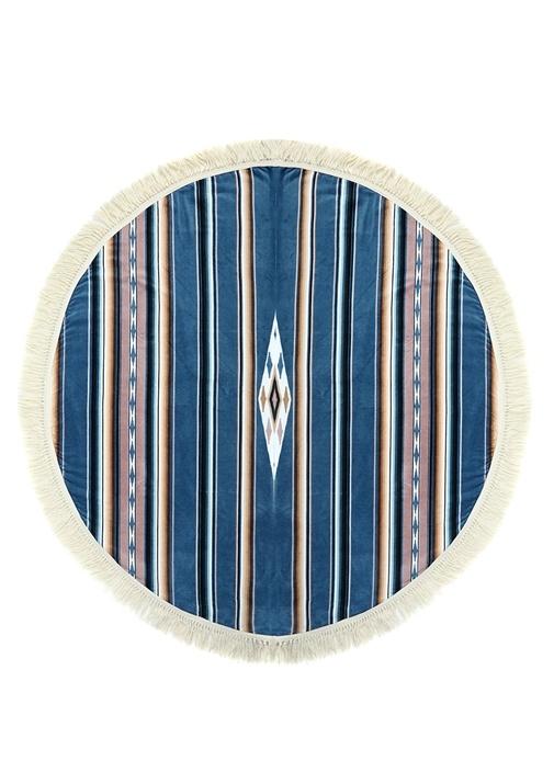 Lakota Yuvarlak Formlu Çizgili Kadın Plaj Havlusu