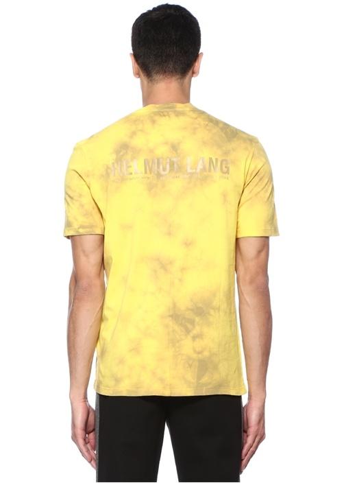 Dart Back Sarı Batik Desenli Basic T-shirt