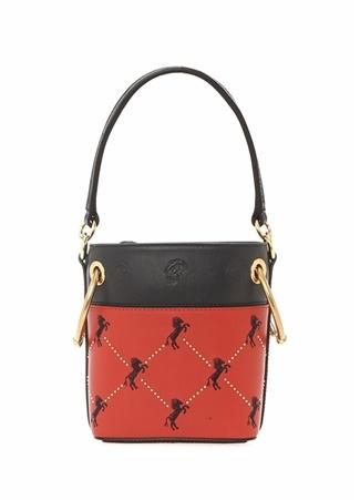 76dae4b6c02e7 Standart female Çok Renkli Chloe Kadın Roy Kırmızı Siyah Logo Nakışlı Deri  Çanta EU