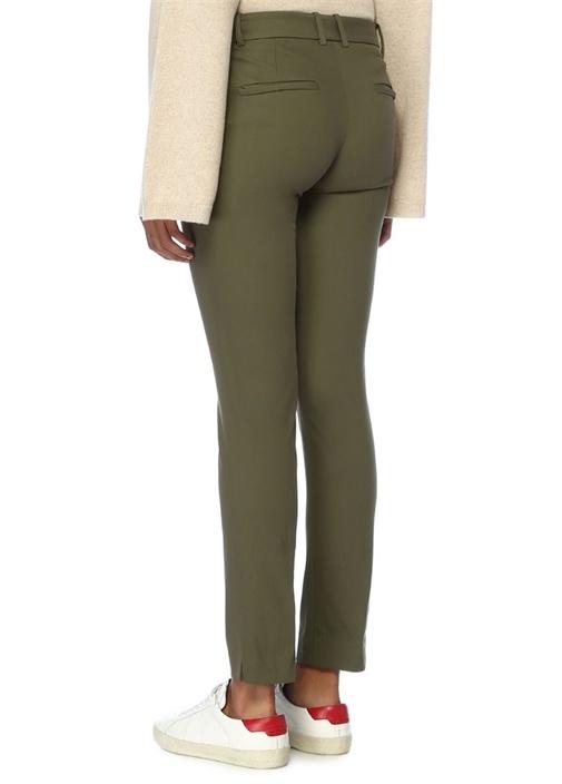 Haki Normal Bel Boru Paça Pantolon