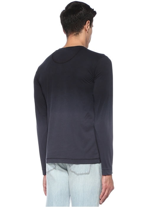 Kuno Lacivert Basic T-shirt