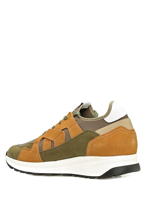 Haki Sarı Erkek Deri Sneaker