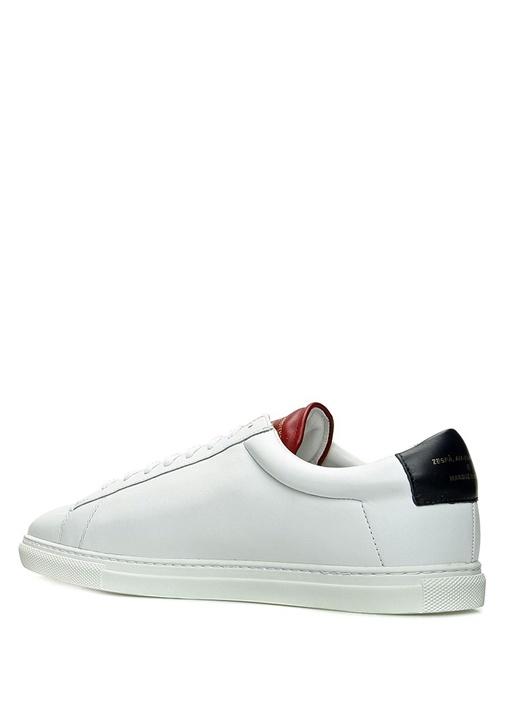 Zsp 4 Apla Beyaz Erkek Deri Sneaker