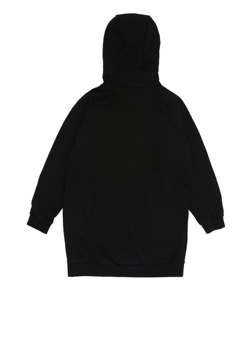 Helenalogo Siyah Kapüşonlu Kız Çocuk Sweatshirt