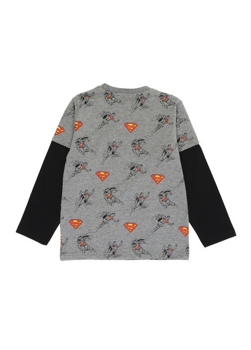 Superman Bisiklet Yaka Erkek Çocuk T-shirt