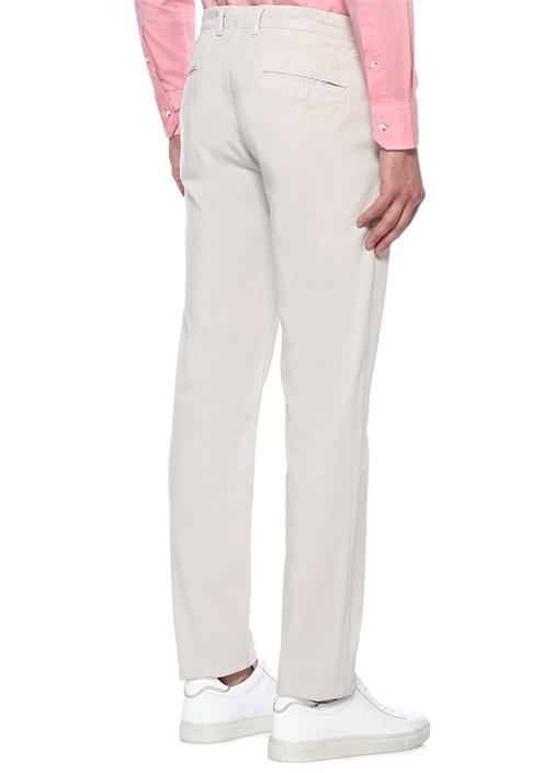 Regular Fit Gri Panama Dokulu Chino Pantolon
