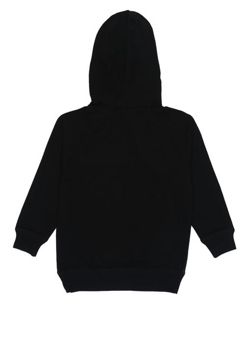 Russel Siyah Top Baskılı Erkek Çocuk Sweatshirt