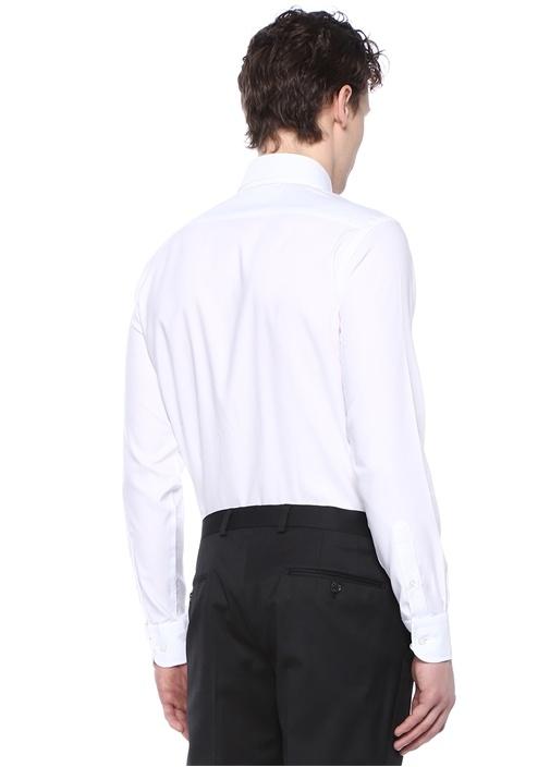 Beyaz İngiliz Yaka Non Iron Özellikli Gömlek