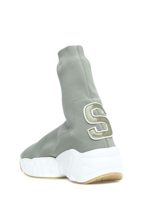 Haki Çorap Formlu Kadın Sneaker