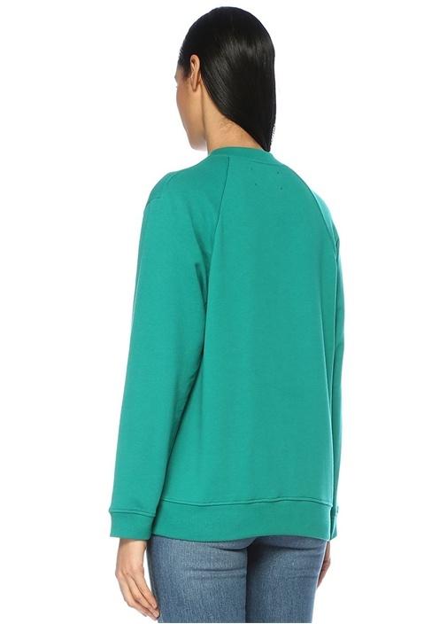Rainbow Week Yeşil Tuesday Nakışlı Sweatshirt