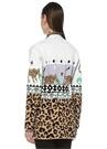 Leopardess Jakarlı Püsküllü Kuşaklı Kısa Hırka