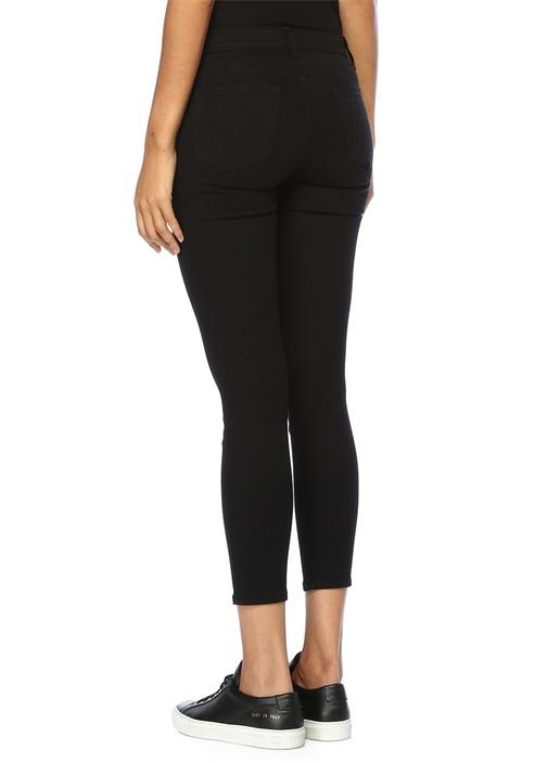 Capri Siyah Normal Bel Dar Paça Jean Pantolon