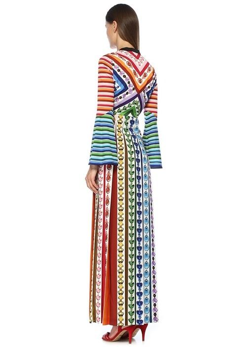 Desmine Colorblocked Karışık Desenli Maxi Elbise