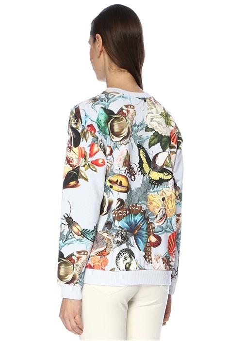 Noir Deniz Kabuğu Desenli Çizgili Sweatshirt