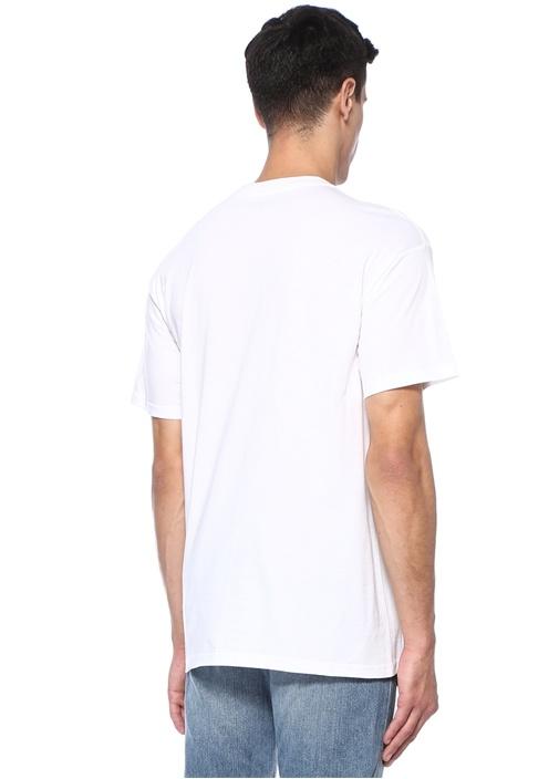 Bunch Of Flower Beyaz Baskılı Basic T-shirt