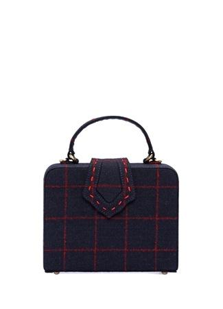 Mehry Mu Kadın Mini Fey Dikiş Detaylı Kareli Kutu Çanta Ürün Resmi
