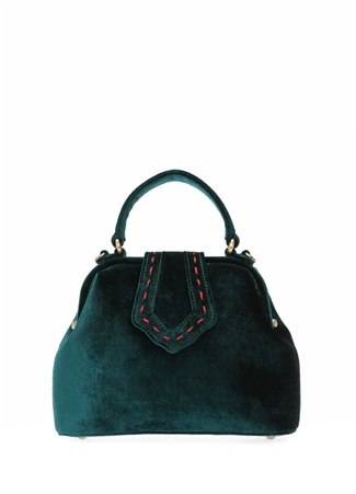 Mehry Mu Kadın Mini Jung Yeşil Kadife Çanta Ürün Resmi