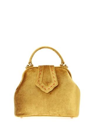 Mehry Mu Kadın Mini Jung Sarı Kadife Çanta Ürün Resmi