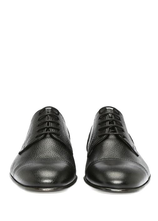 Siyah Dokulu Erkek Deri Ayakkabı